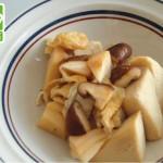 たけのこと高野豆腐の炒め物