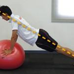バランスボールを利用した体幹トレーニング