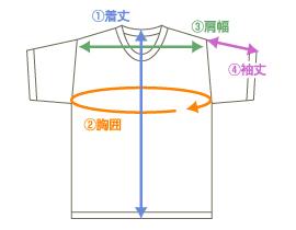 サイズ半袖